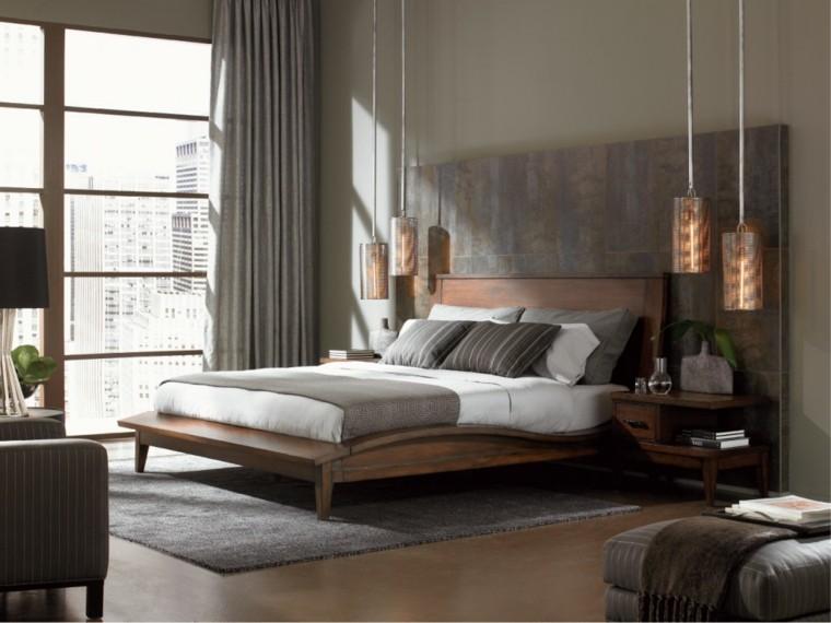 estilo sexy dormitorio masculino moderno reloj alfombra gris ideas