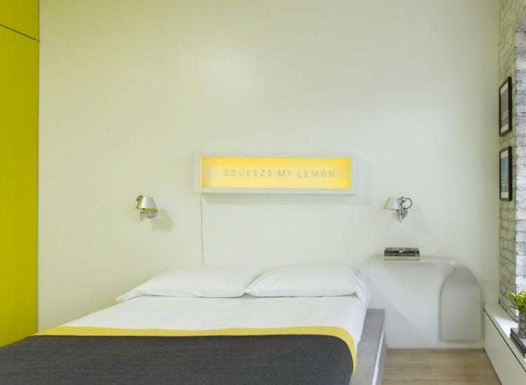 estilo sexy dormitorio masculino moderno reloj amarillo ideas
