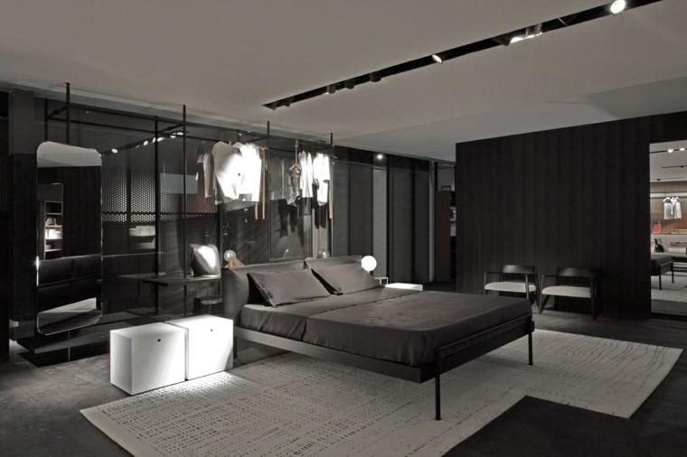 estilo sexy dormitorio masculino moderno reloj armario abierto ideas