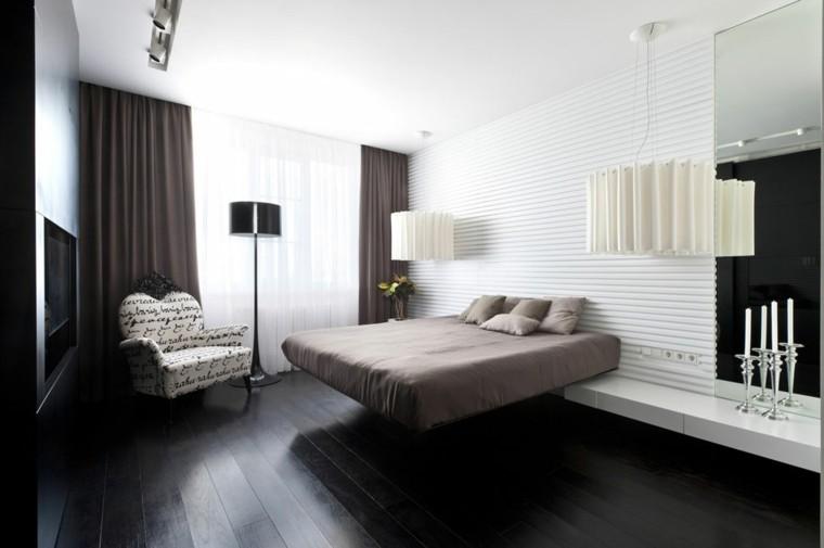 estilo sexy dormitorio masculino moderno reloj cama flotante ideas
