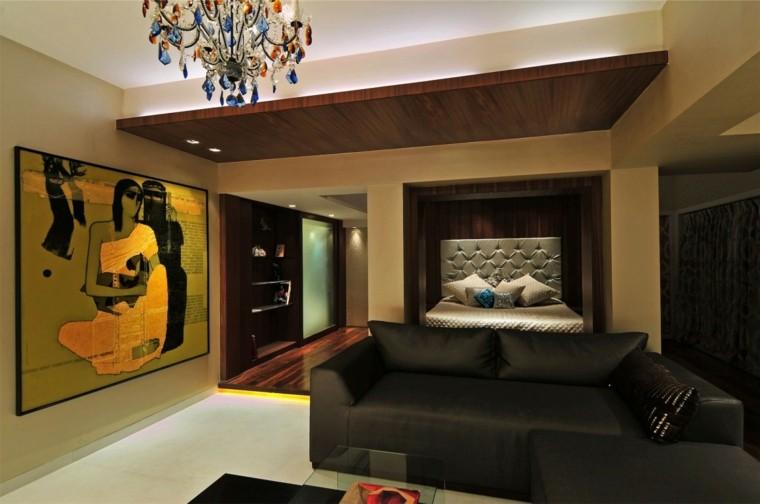 estilo sexy dormitorio masculino moderno reloj contemporaneo ideas