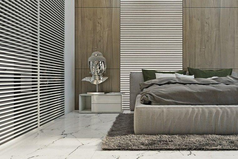 estilo sexy dormitorio masculino moderno reloj decoracion plata ideas