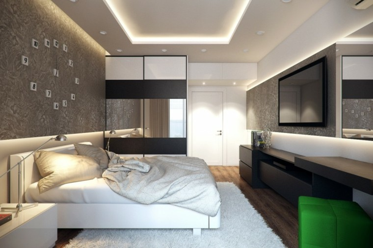 estilo sexy dormitorio masculino moderno reloj original ideas
