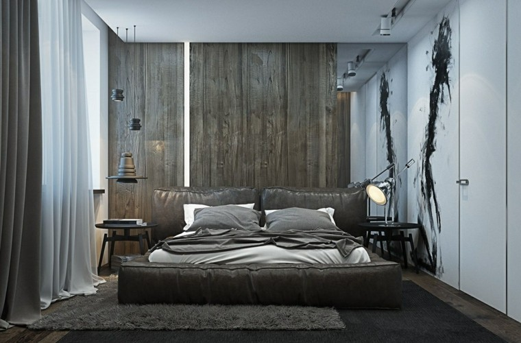 estilo sexy dormitorio masculino moderno reloj pared blanca ideas