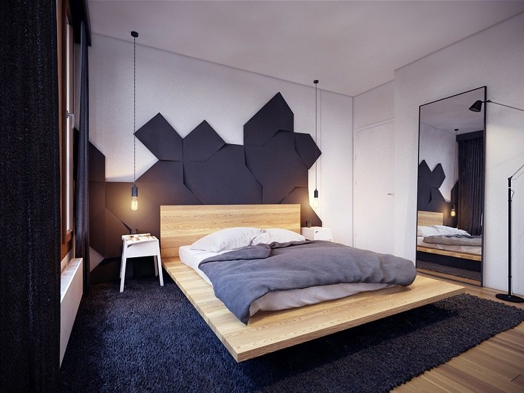 Estilo sexy en el dormitorio masculino 50 ideas brillantes for Departamentos decorados estilo moderno