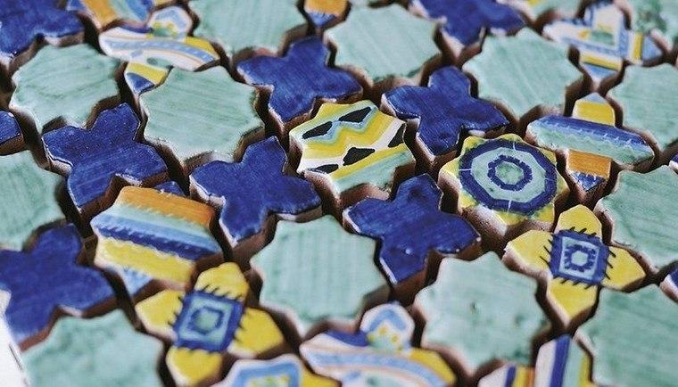 estilo tradicional patrones patchwork baldosas originales ideas