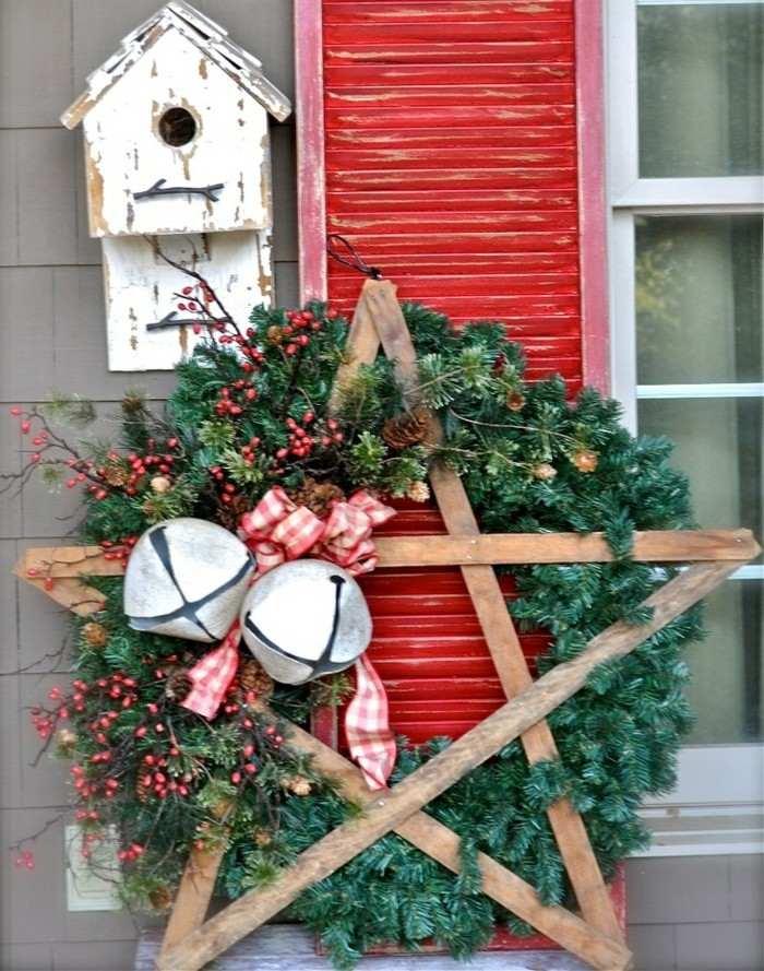 estrella madera adornos de navidad rusticos