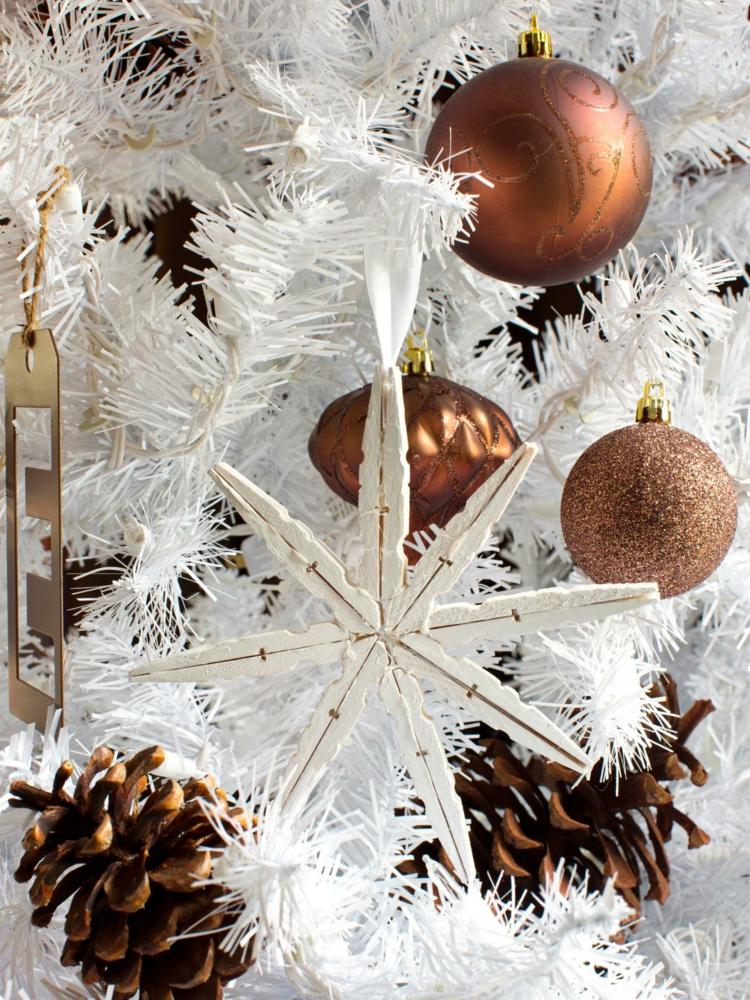 estrella navidad pinzas ropa madera