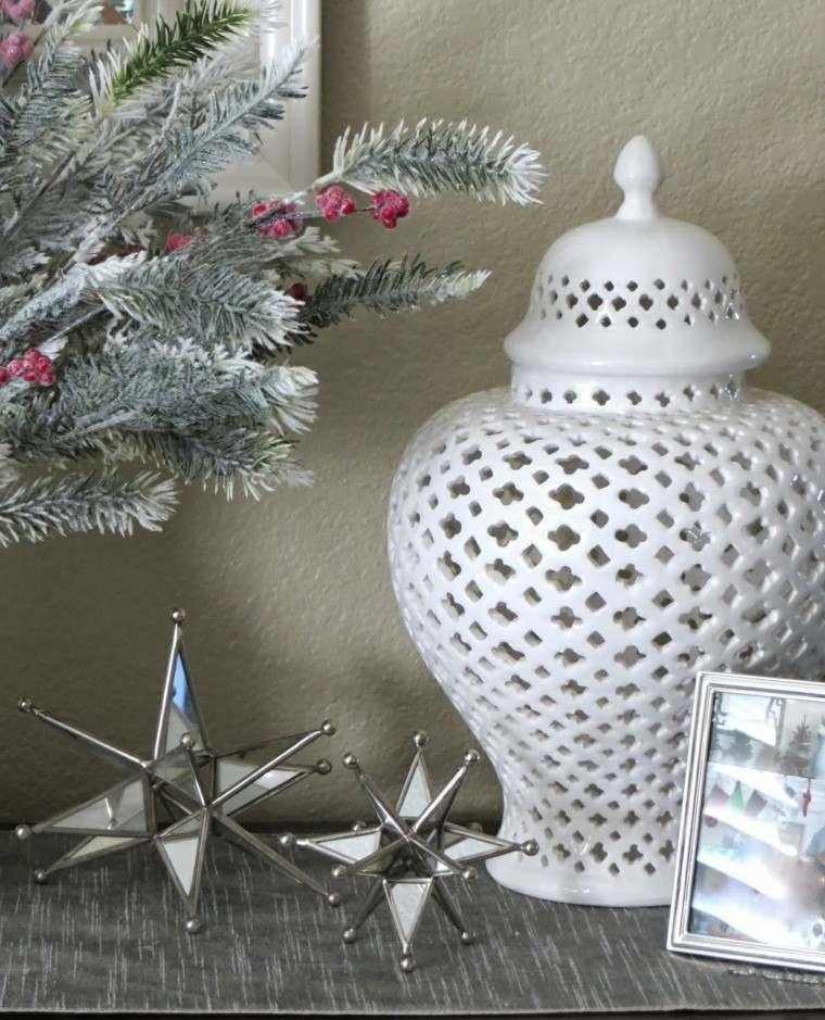 estrellas de navidad decorando casa adornos metal ideas
