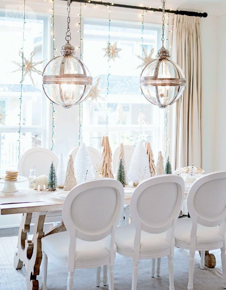estrellas navidad decorando casa comedor moderno ideas
