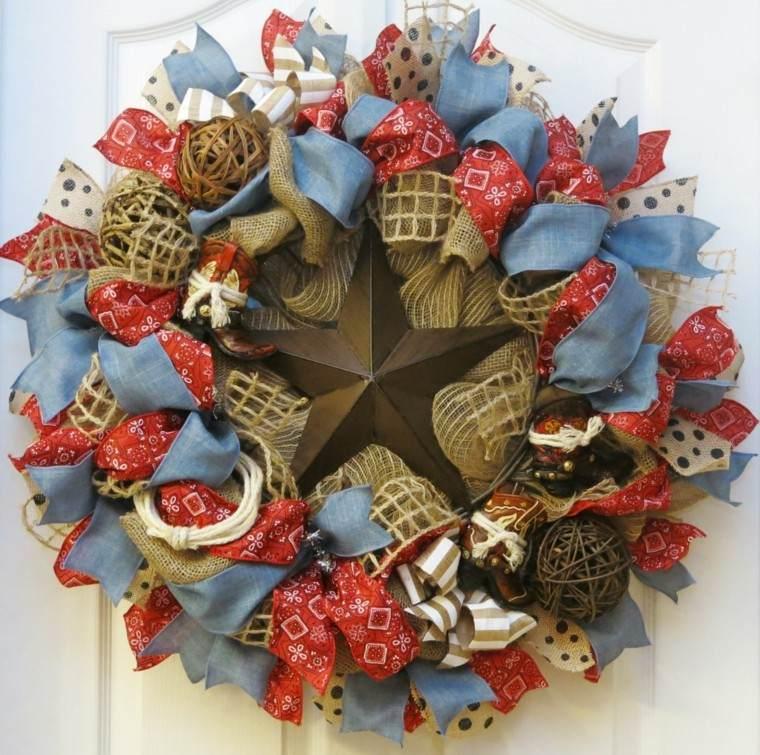 estrellas de navidad decorando casa entrada guirnalda ideas