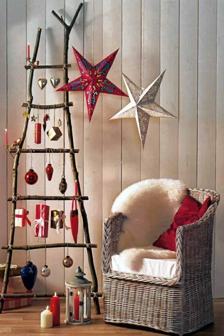 estrellas navidad decorando casa estilo retro ideas