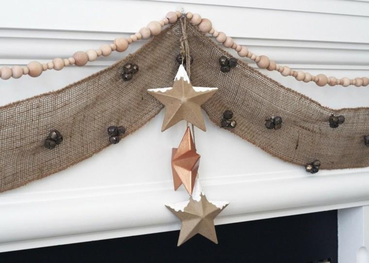 estrellas navidad decorando casa guirnalda tela ideas
