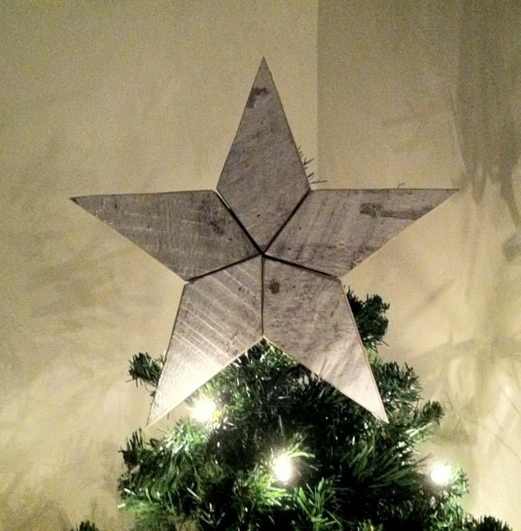 estrellas de navidad decorando casa madera arbol ideas