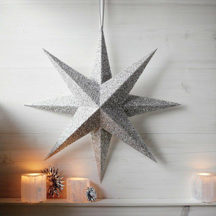 Estrellas de navidad para decorar la casa en las fiestas - Ideas para decorar estrellas de navidad ...