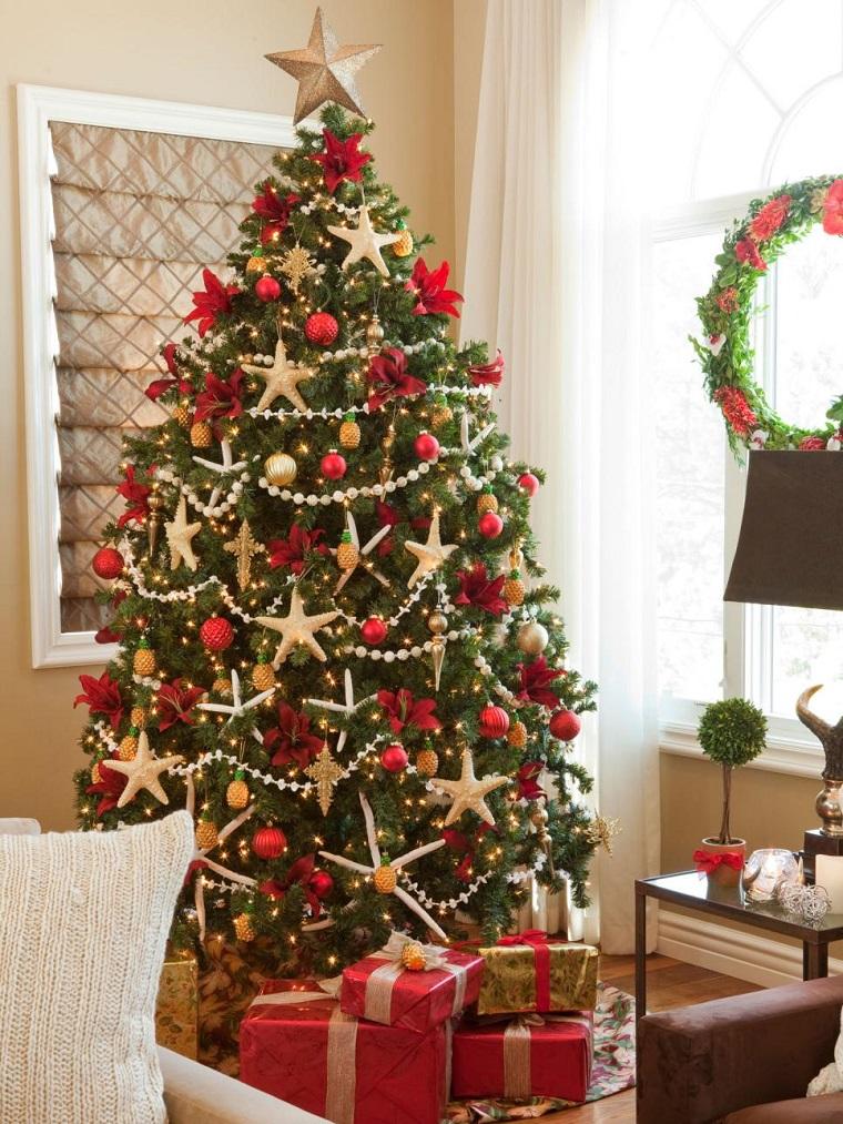 Estrellas de navidad para decorar la casa en las fiestas - Decoracion arbol navidad ...