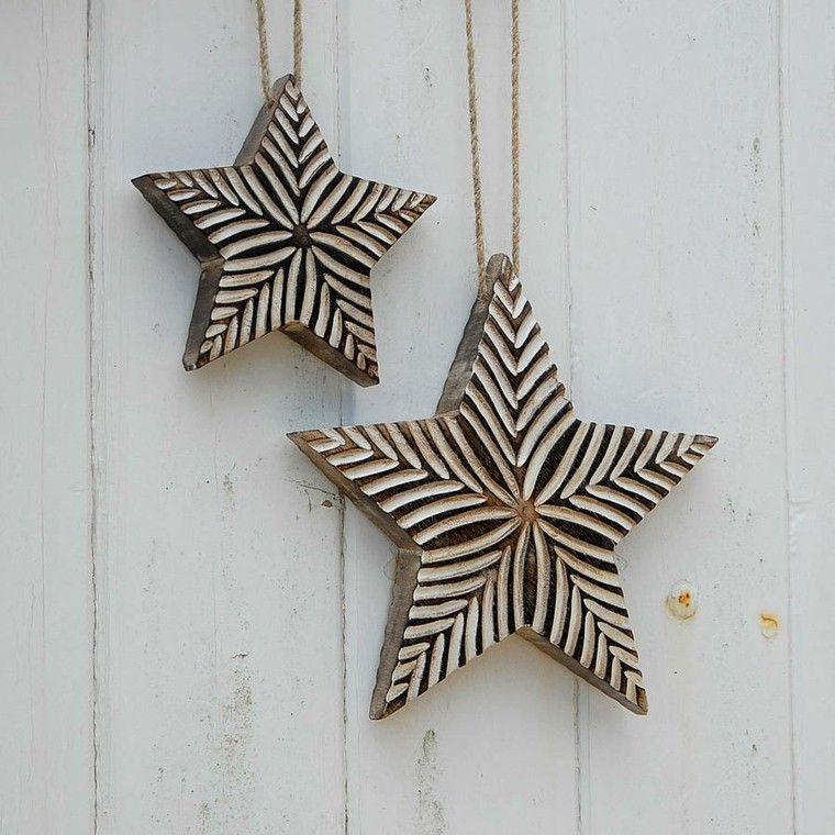 estrellas navidad acabodas madera precioso ideas