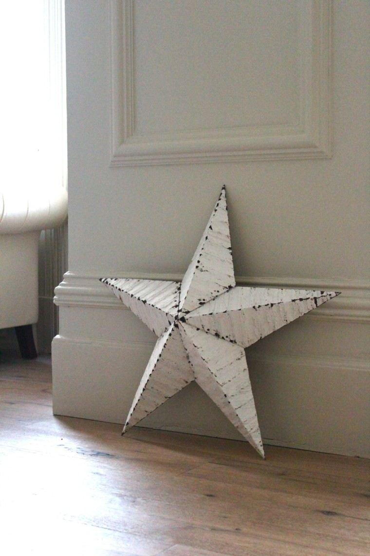 estrellas navidad blanca relieve decorar casa ideas