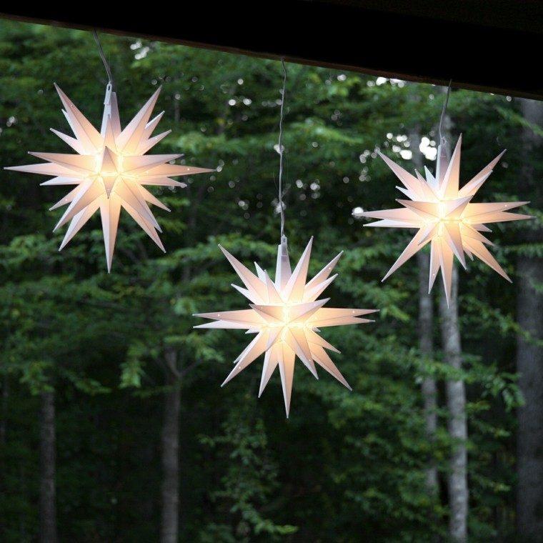 estrellas navidad colgar porche dias fiesta ideas
