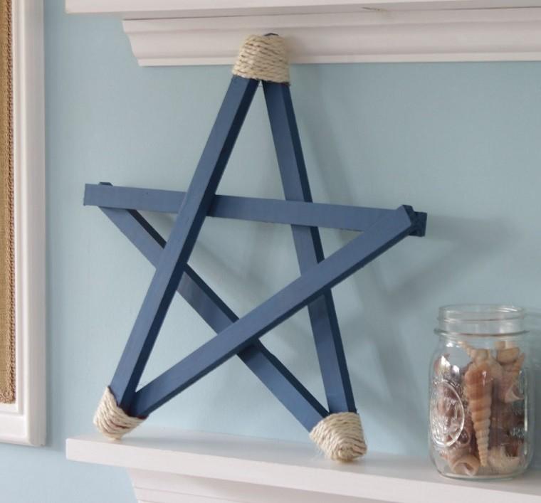 estrellas navidad color azul chimenea ideas