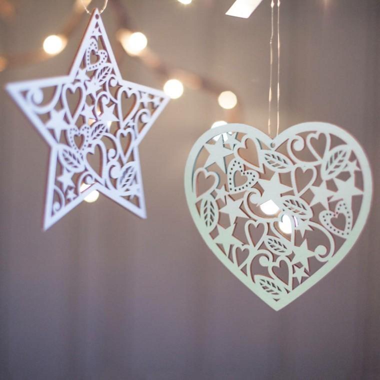 estrellas navidad corazon adorno arbol navideno ideas