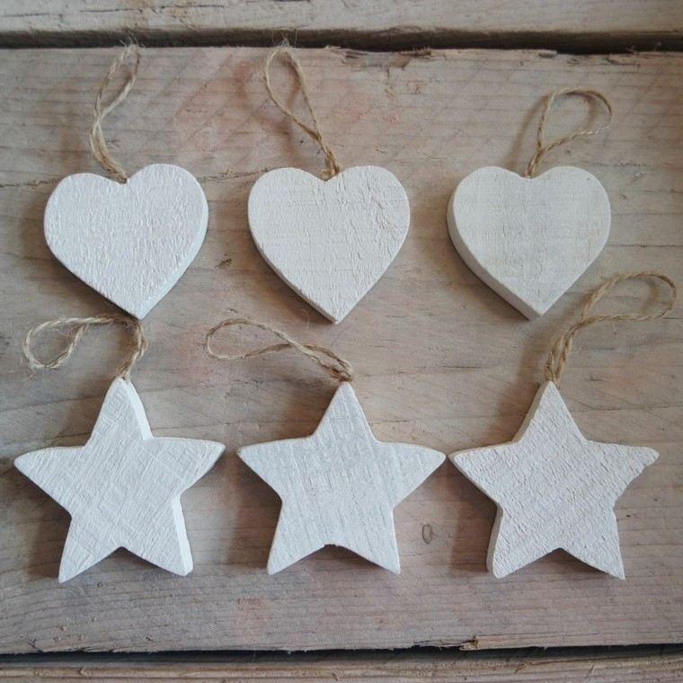 estrellas navidad corazones adornos abol ideas