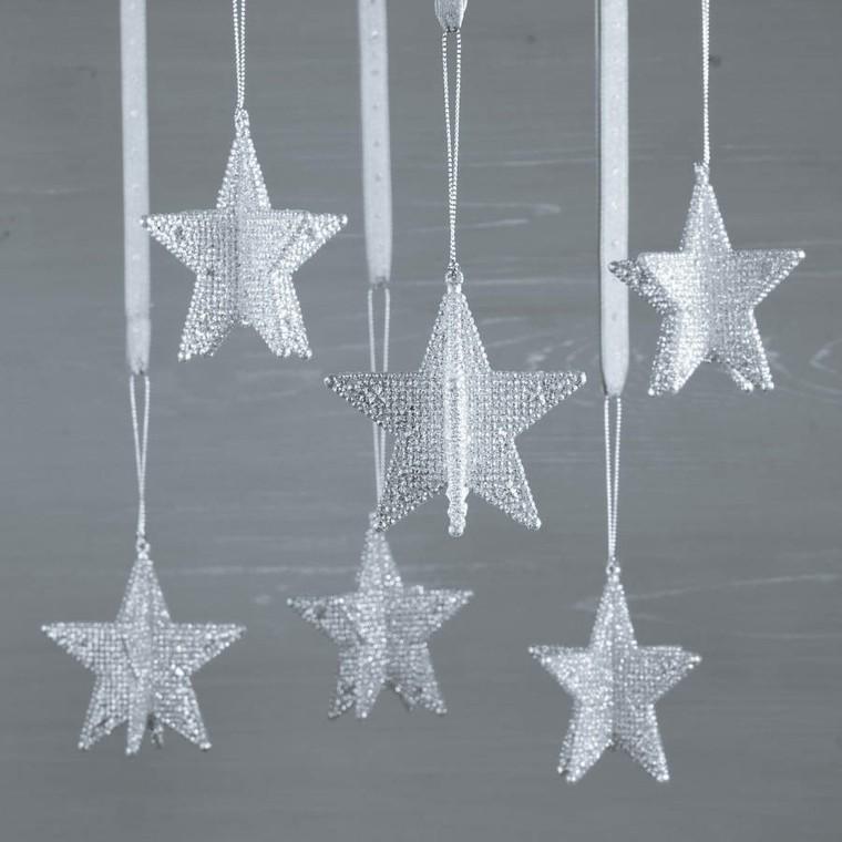 estrellas navidad elegante cristal precioso ideas