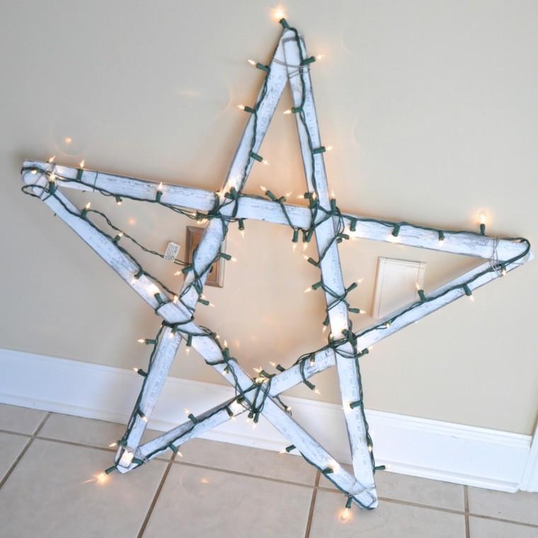 estrellas navidad luces navidena blanca ideas