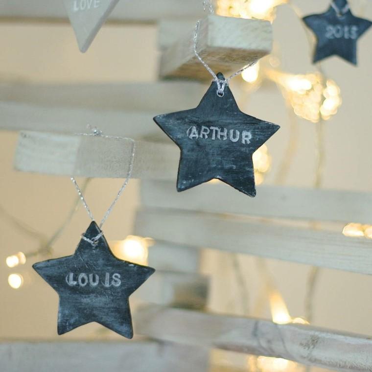 estrellas navidad madera decorar arbol madera ideas