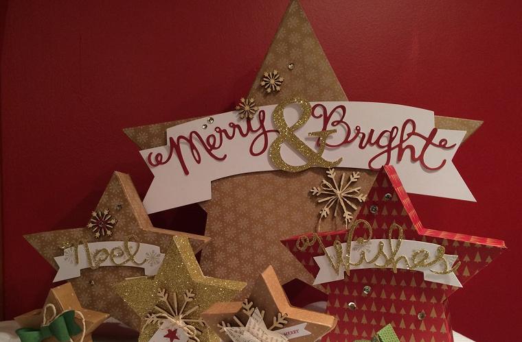 estrellas navidad mesa preciosa estrellas ideas
