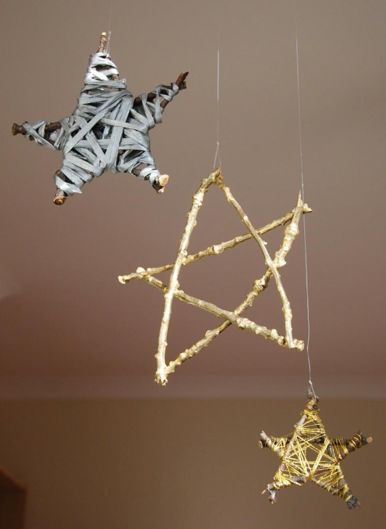 estrellas navidad ramas arbol cinta ideas
