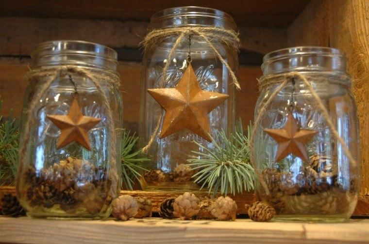 estrellas navidad tarros cristal pina ideas