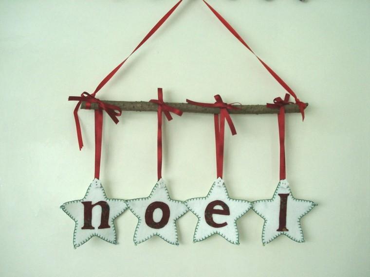 estrellas navidad tela nombre papa noel ideas