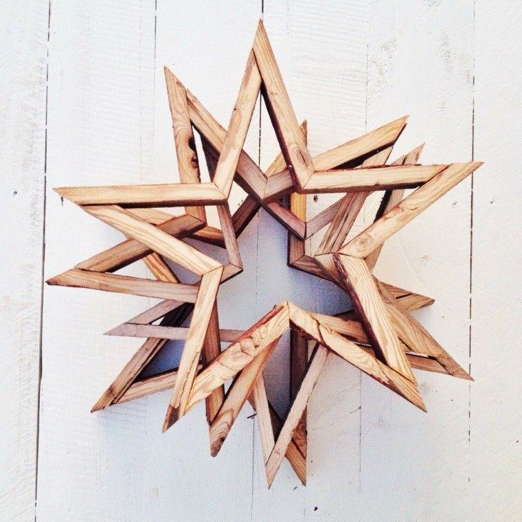 estrellas navidad varias madera original ideas