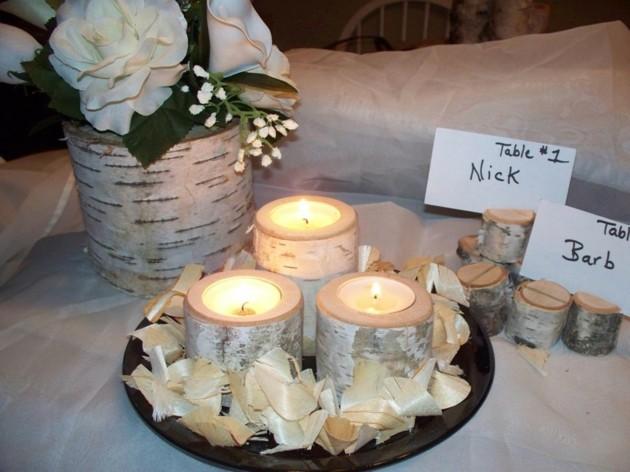 estupendas velas mesa jardín