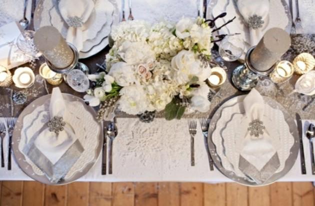 estupenda decoración mesa blanca