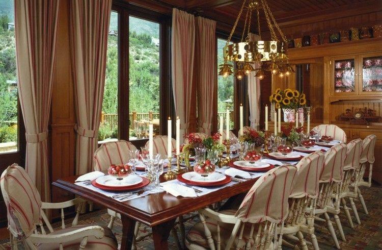mesa decorada estilo lujoso
