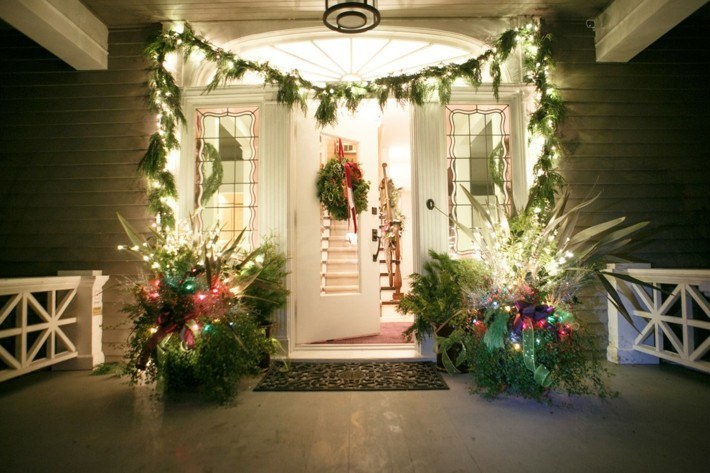 estupenda decoración navidad entrada