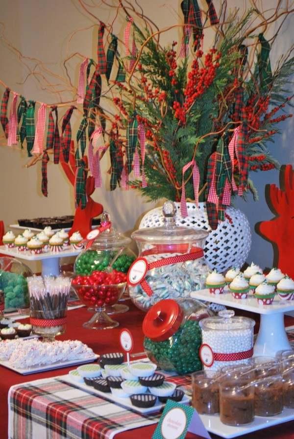 estupenda decoración navidad roja