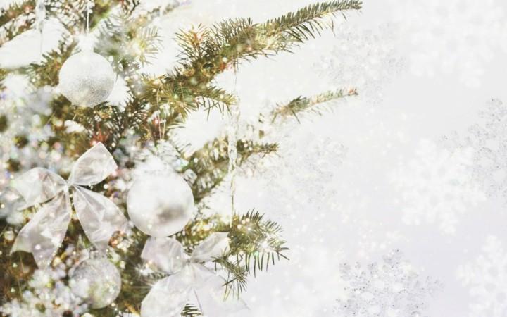 estupenda decoración navidades blancas