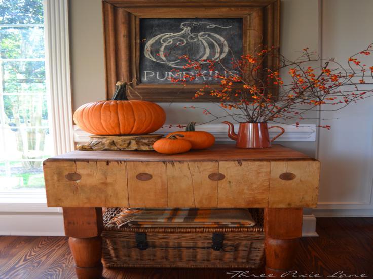 estupenda decoración mesa madera