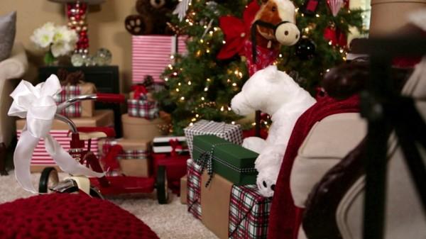 estupenda decoración salon navidad