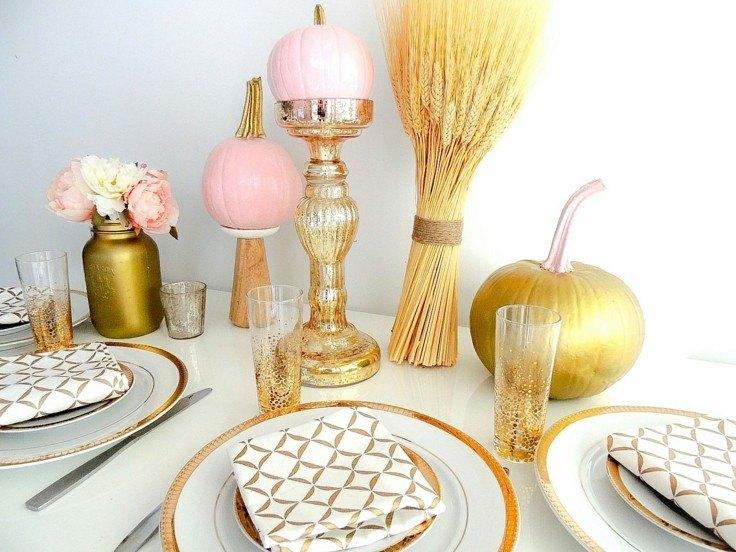 estupenda mesa decoración otoño