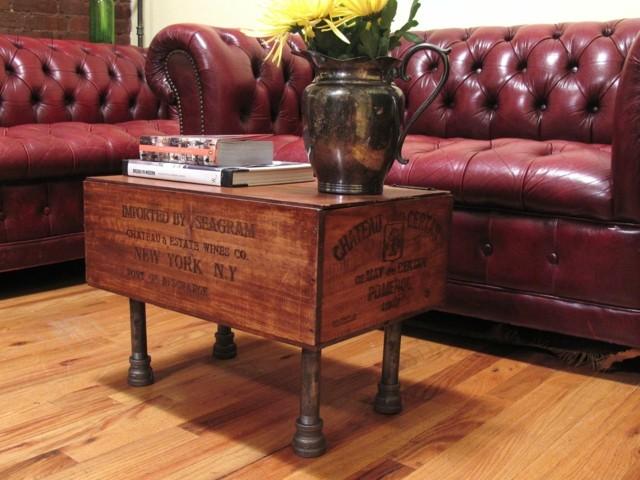 estupenda mesa sofá color rojo