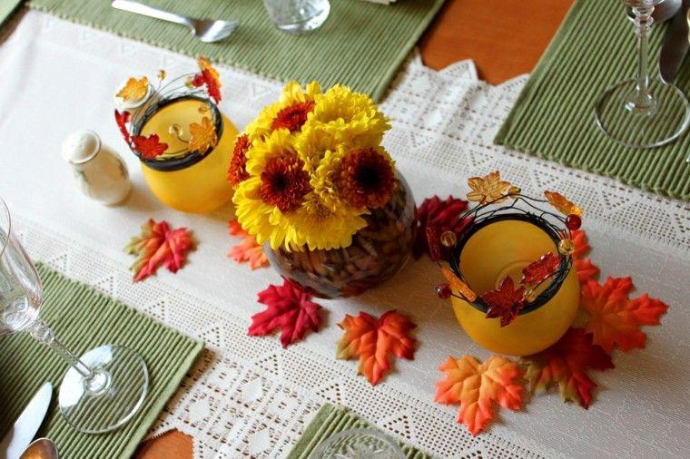 estupenda decoración mesa otoño