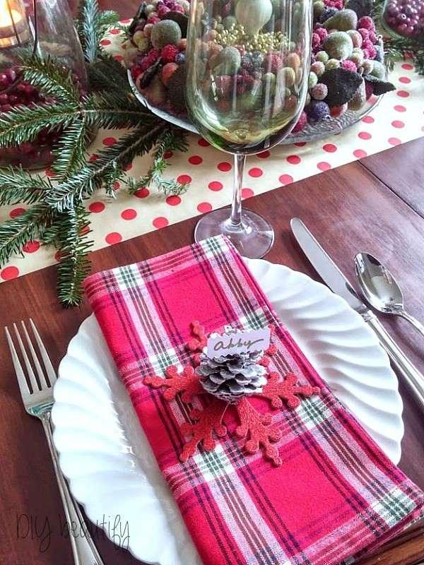 estupenda decoración navideña plato