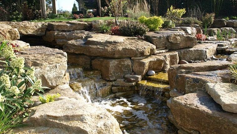 great waterfalls stones rocks
