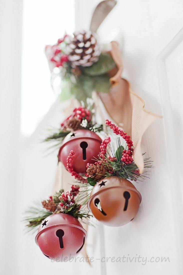 estupendo adorno cascabeles navidad