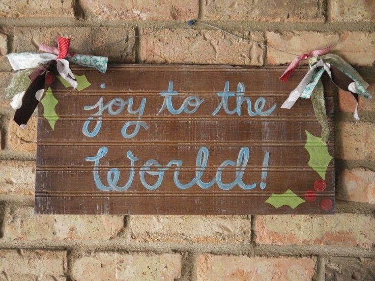 estupendo cartel diseño madera navidad