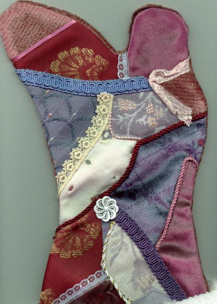 estupendo diseño calcetin saten raso